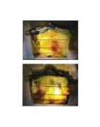 Luminaire, lampe, lustre en matière recyclé et transformée par LOKAZ